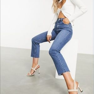 NWOT ASOS Highrise Stretch Crop Flare Jeans, 26